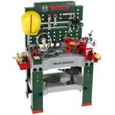 Игровой набор для мальчиков Мега Мастерская Mega Workshop Bosch из 150 предметов с деталями транспорта, Klein