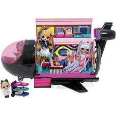Игровой набор для девочек Самолет для куклы ЛОЛ Ремикс 4 в 1 с подсветкой и 50 сюрпризами - Plane LOL Surprise!