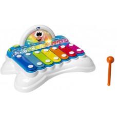 Детский Развивающий Музыкальный инструмент Ксилофон Металлофон со звуковыми и световыми эффектами, Chicco