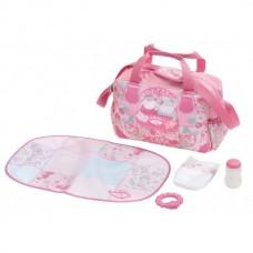 Игровая Сумка Модная прогулка для Куклы Бэби Аннабель с аксессуарами ярко-розовая Baby Annabell Zapf Creation
