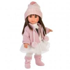 Игровая Испанская Кукла Llorens Сара L из винила с русыми волосами в белой водолазке и розовой куртке, 35см