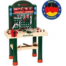 Игровой набор для мальчиков Мастерская Bosch Верстак с инструментами и обучающими эффектами, 82 детали, Klein