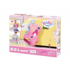 Детский Игровой Рюкзак-кенгуру для Куклы розовый с фиксирующими лямками Беби Борн 43см Baby Born Zapf Creation