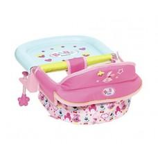Детский Игровой Подвесной стульчик для кормления куклы розовые с рисунками Беби Борн Baby born Zapf Creation