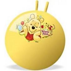 Мяч Попрыгун для детей надувной, с двумя ручками D=45-50см Винни Пух, Дисней Мондо, цвет: желтый - Disney, Mondo
