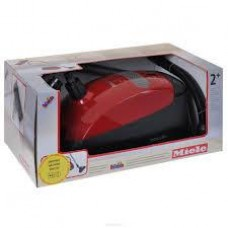 Детский Игрушечный Пылесос красный со звуком и режимом всасывания шариков на колесиках Miele Klein Кляин