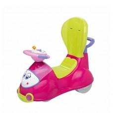 Детская Многофункциональная Машина Каталка для детей 4в1 съемные детали, звук. панель Chicco QAUTTRO розовая