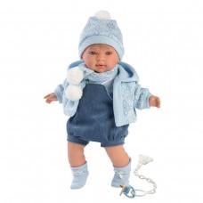 Детская Игровая Испанская Подвижная Говорящая Кукла Ллоренс Мигель 42см для девочек с соской Llorens из винила
