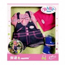 Детский Игровой Набор Комплект джинсовой одежды Делюкс для Беби Бон 43 см Baby Born 4 предмета Zapf Creation