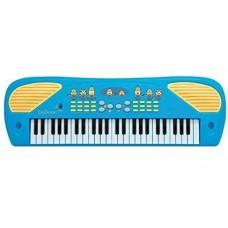Детский Развивающий Музыкальный Инструмент Электросинтезатор Пианино Миньоны голубой 49 клавиш LEXIBOOK