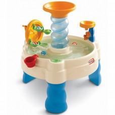 Детская Многоуровневая Конструкция Детская песочница Водные Приключения синяя с аксессуарами Little Tikes