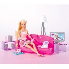 Детская Игровая Кукла Штеффи 29 см В розовой Гостиной комнате с телевизором и диваном Steffi Love Simba Симба