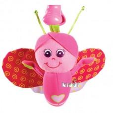Детская Мягкая Тактильная Игрушка-Подвеска розовая с вибрацией Бабочка Крошка Бетти Tiny Love Тини Лав