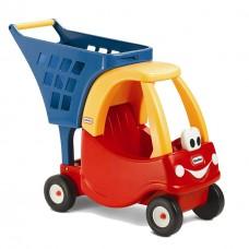 Детская Игровая Каталка для кукол Корзина для покупок, тележка для игрушек, высота 55 см красная Little Tikes