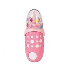 Детская Игровая Интерактивная Звуковая бутылочка для кукол розовая с крышкой Беби Борн Baby Born Zapf Creation