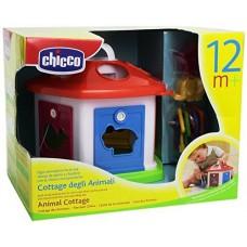 Детский Игровой Развивающий Сортер Домик c ключами Животная ферма с разными формами и цветами Chicco Чико