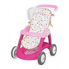 Детская Игровая Кукольная Коляска трость прогулочная розовая с сердечками с корзиной и козырьком Baby Nurse