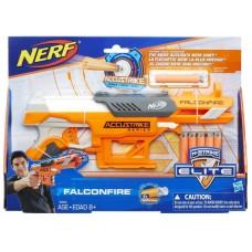 Детское Игрушечное Оружие Пистолет с 5 патронами N-Strike Accustrike Falconfire желтый NERF Нерф Hasbro