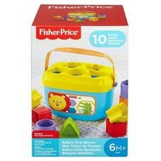 Детский Игровой Развивающий Сортер Логика Первые кубики для малышей со львенком голубой 10 штук  Fisher-Price