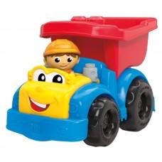 Детский Игровой Конструктор для мальчиков Самосвал Дилан 6 больших деталей и колеса Mega Bloks First Builders