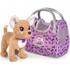 Детская Плюшевая Игрушка для Девочек Cобачка Чи Чи Лав путешественница с сумкой-переноской Chi Chi Love Simbo