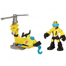 Детский Трансформер Аксель Фрейзер с микрокоптером Боты спасатели 6 см - Axel&Microcopter, Rescue Bots, Hasbro