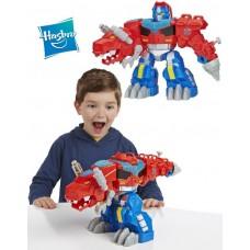 Огромный Оптимус Праймл - динозавр, Плейскул - Optimus Primel T-Rex, Eazy2Do, Hasbro