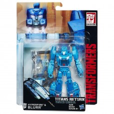 "Трансформер Гиперфаер и Блюр ""Возвращение Титанов"" - Hyperfire&Blurr, Deluxe, Hasbro, 14 см"